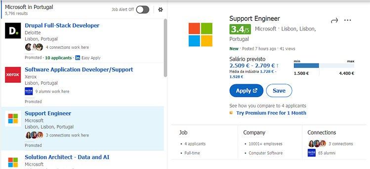 Screenshot do Chrome addon