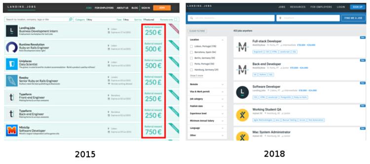 Screenshots da plataforma jobbox