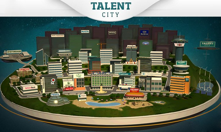 Screenshot da plataforma The Talent City